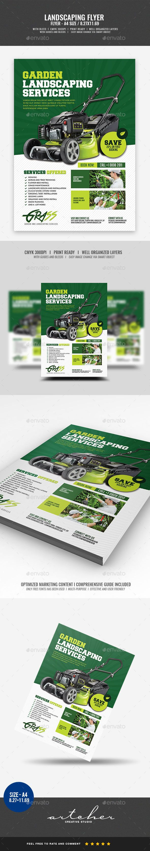 Landscaping Flyer Flyer Template Template And Business Flyer