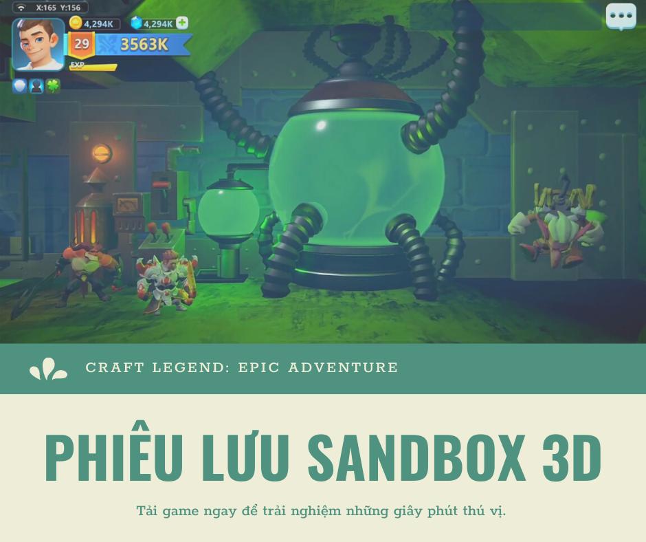 Craft Legend Epic Adventure trong 2020 Sandbox, Phiêu