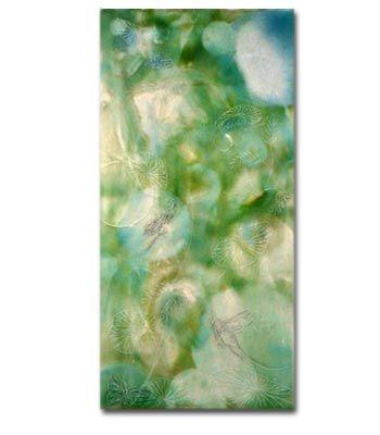 Edie Morton :: Dragonflies and Lotus Leaves