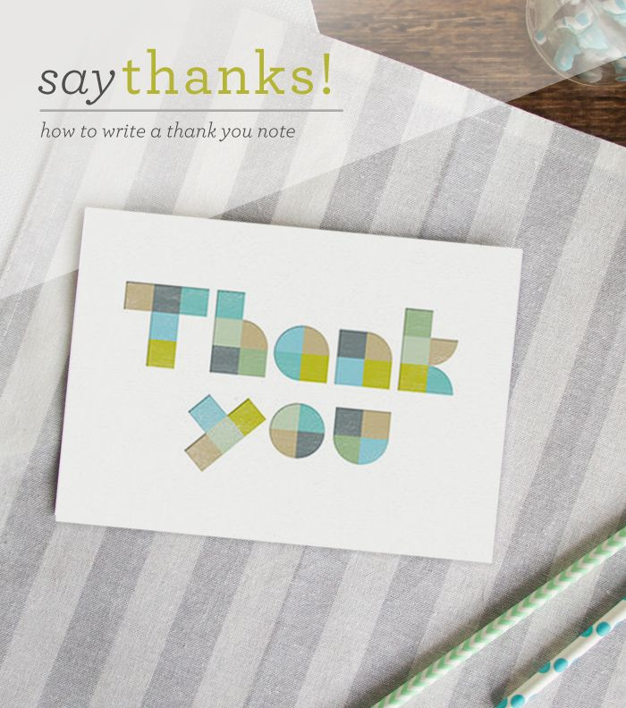 Say Thanks How To Write A Thank You Note  Note And Blog