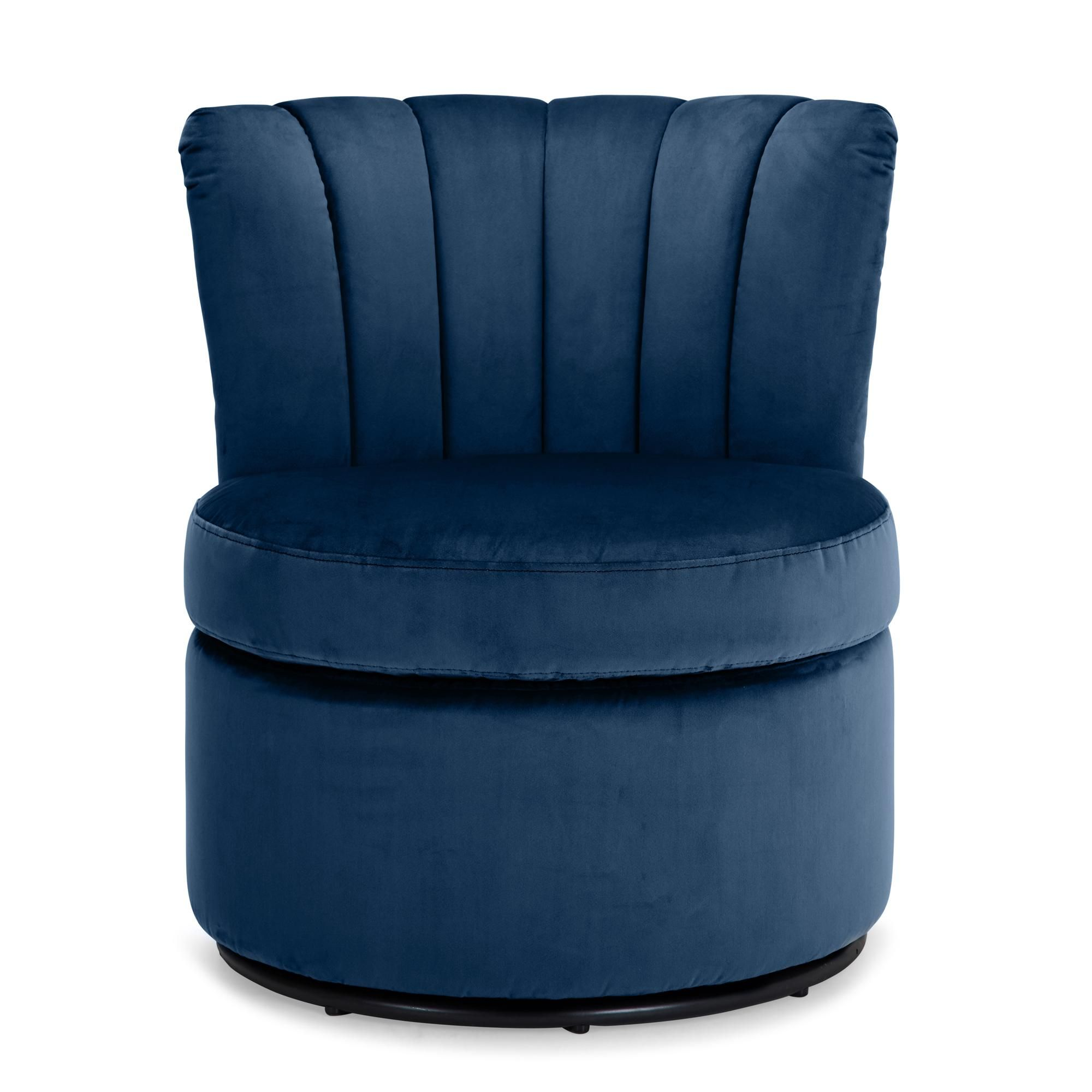 Esme Boudoir Swivel Chair - Midnight Blue