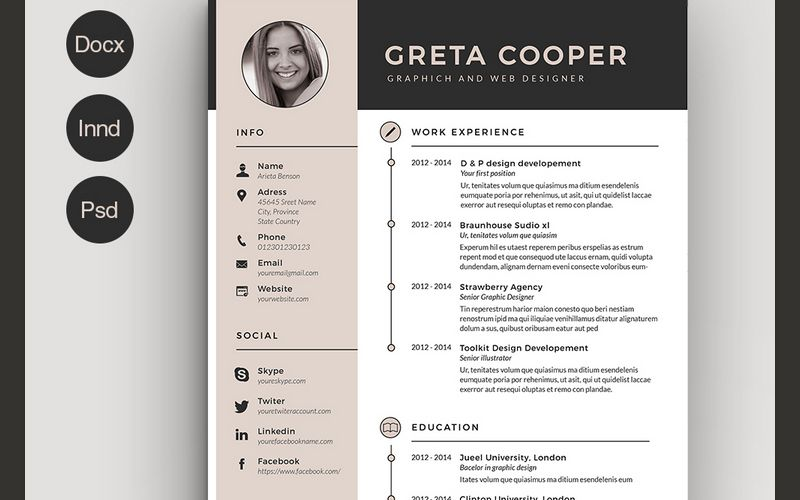 best indesign resume templates