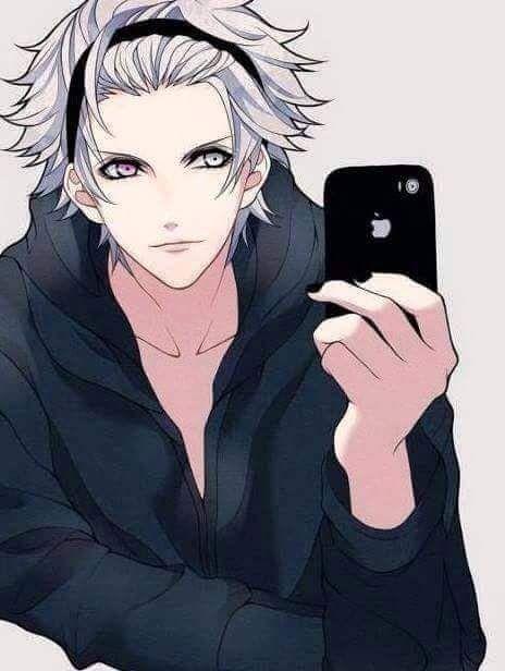 Kurosaki Ranmaru Uta No Prince Sama White Hair Heterochromia Pink Eyes Gray Eyes Hoodie Anime Guys Shirtless Cute Anime Guys Anime Guys
