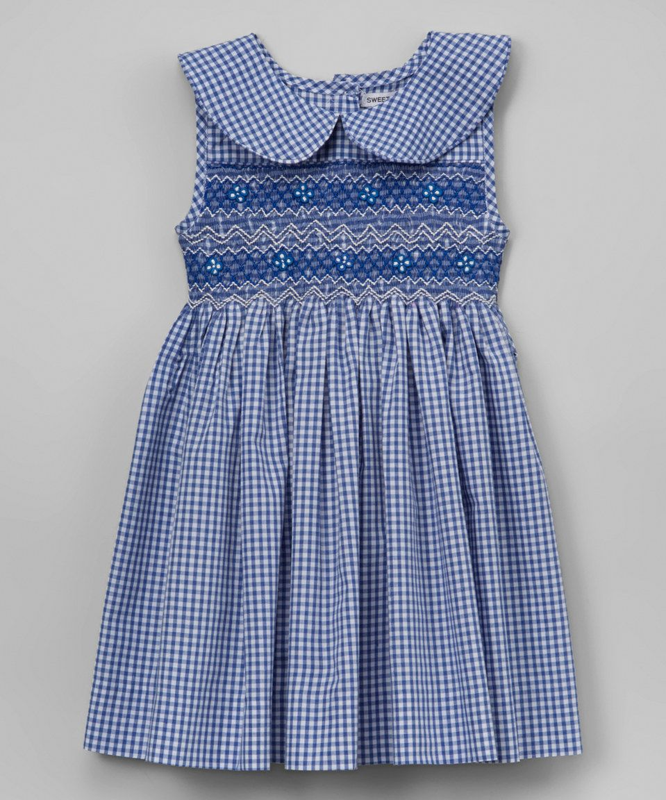 20fb355c Sweet Dreams Blue Peter Pan Collar Smocked Dress - Infant, Toddler & Girls  by Sweet Dreams #zulily #zulilyfinds