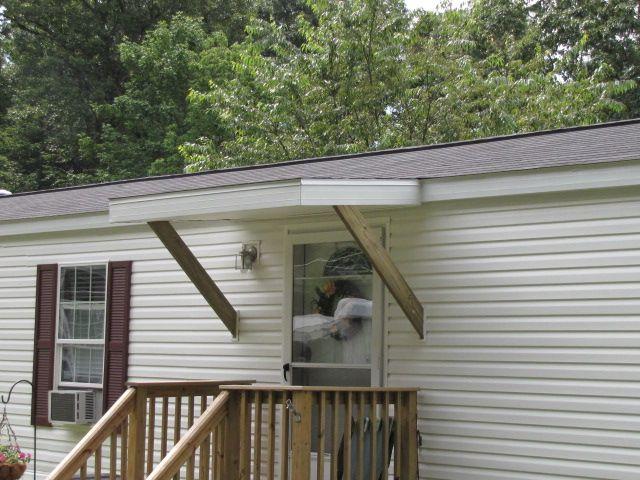 awnings for mobile homes custom built decks outside