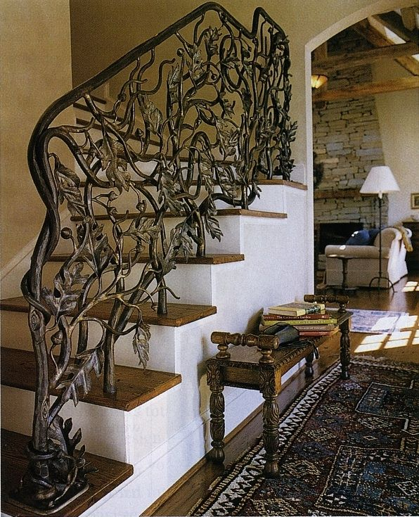 Oak Leaf And Acorn Stair Railing By John Boyd Smith Metal Studios    Inspiration For Shape And Spirit