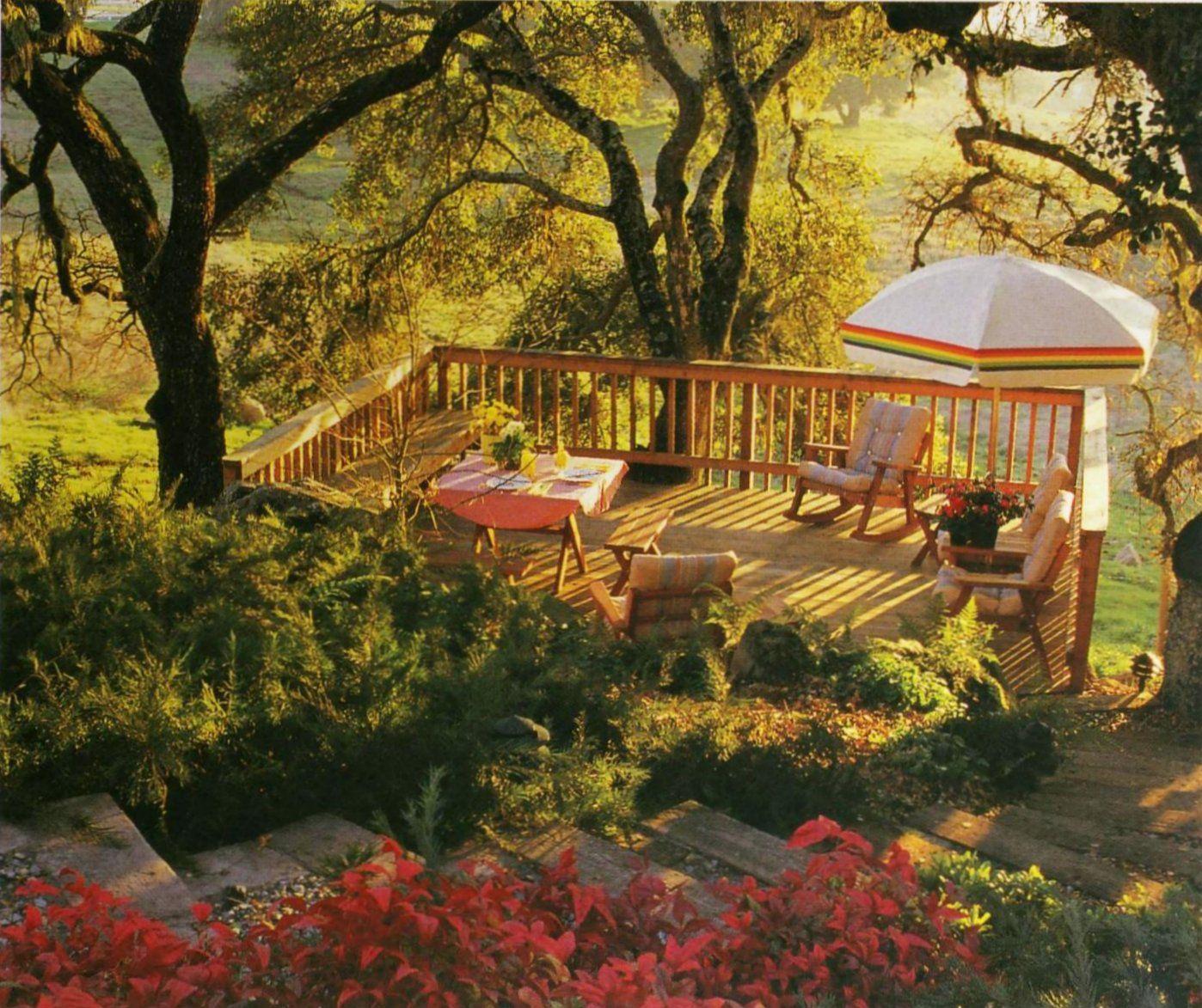 Deck Overlook Slope Sunset Hillside Landscaping Page 28
