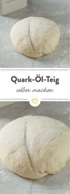 Pizzateig mit Quark und Öl