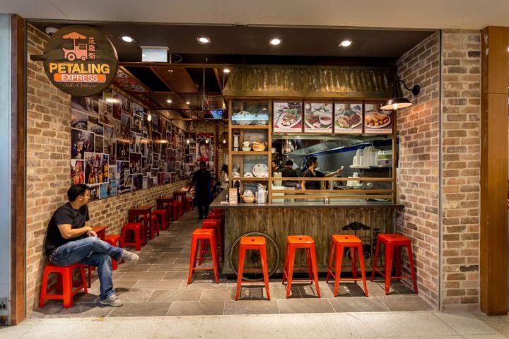 Petaling Street Express Restaurant By Envision Design Sydney Australia Retail Design Blog Small Restaurant Design Food Stall Design Street Food Design