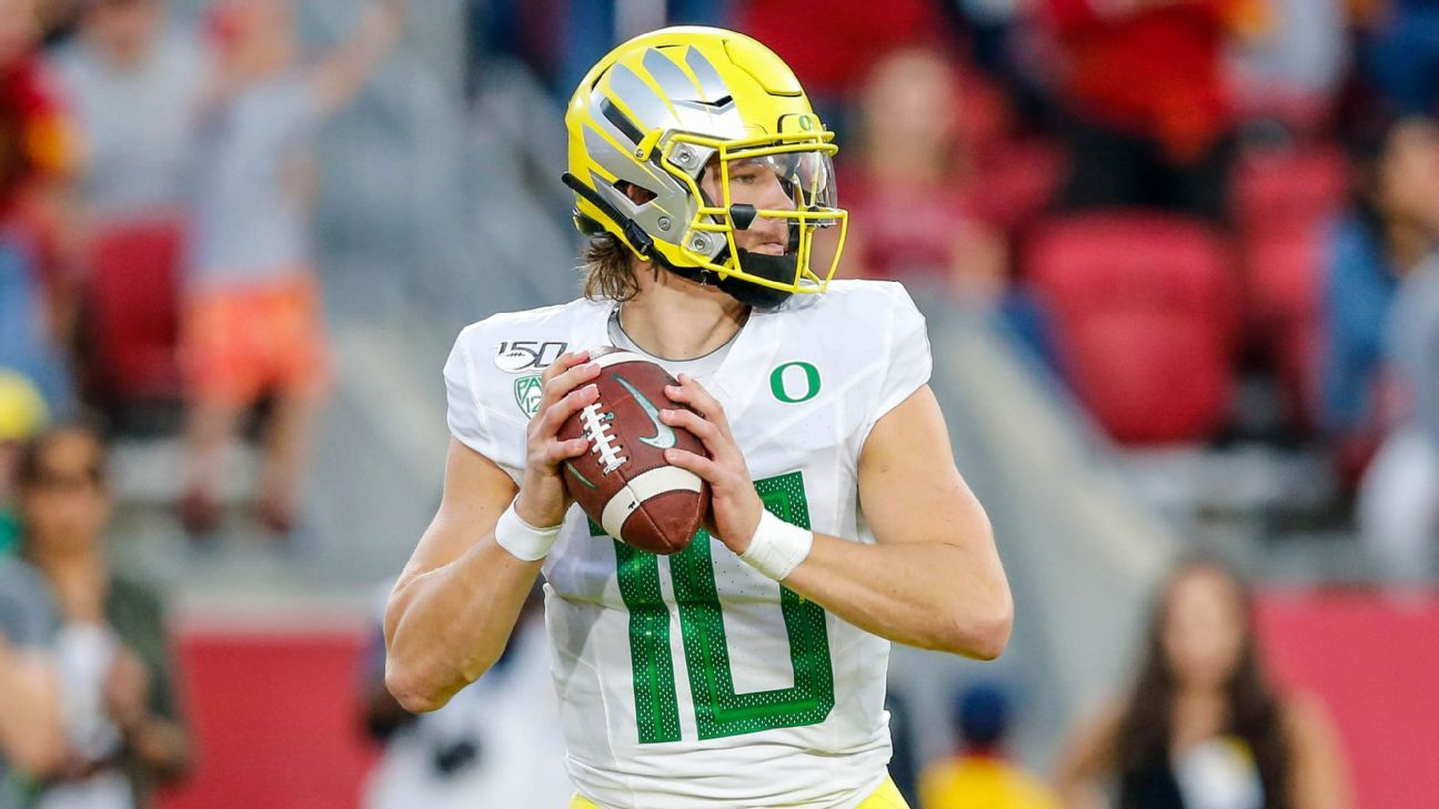 Picking Best Nfl Fits For The Draft S Top Qbs Perfect Landing Spots For Herbert More In 2020 Nfl Jalen Hurts Heisman Trophy Winners