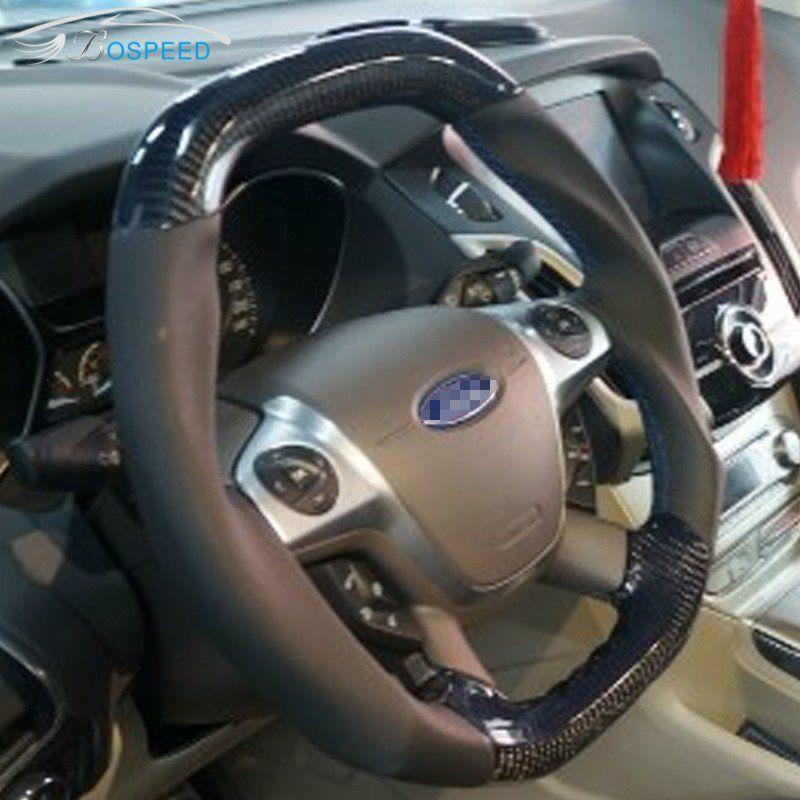 Custom Made Carbon Fiber Steering Wheel For 2011 2014 Ford Focus