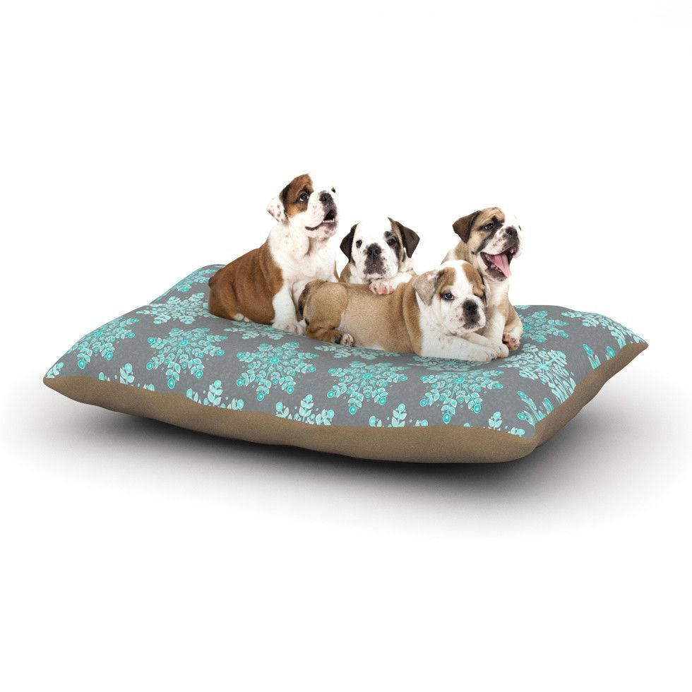 "Anchobee ""Blue Christmas"" Blue Gray Dog Bed"