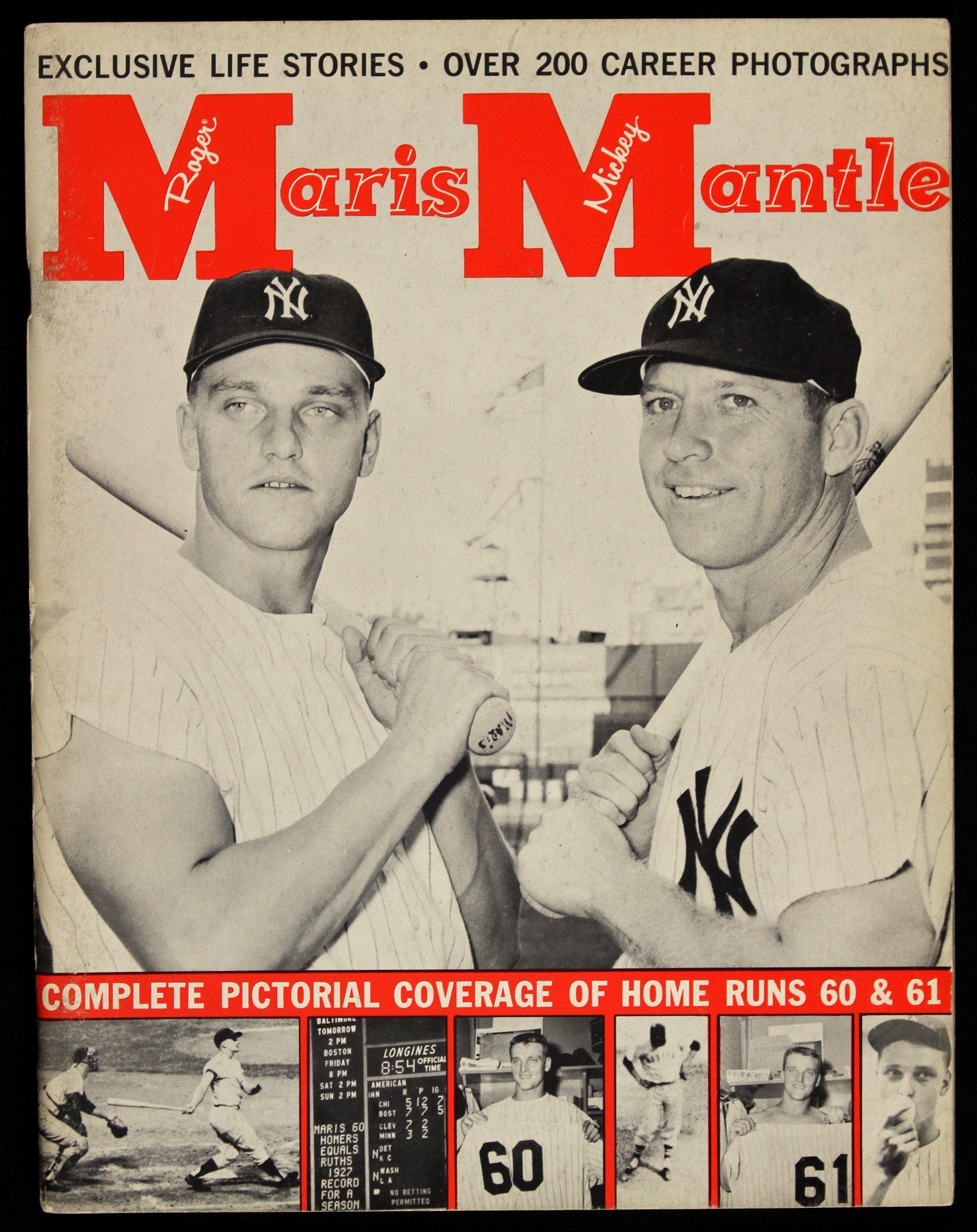 Roger Maris And Mickey Mantle Ny Yankees Baseball Old Baseball