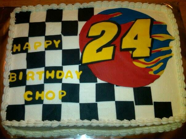 Jeff Gordon Birthday Cake With Images Nascar Party Race Party