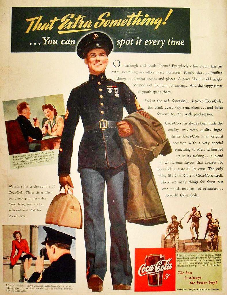 edc23bf3efbd76 1942 Coca Cola vintage advertisement soda MILITARY world war 2 handsome  SOLDIER