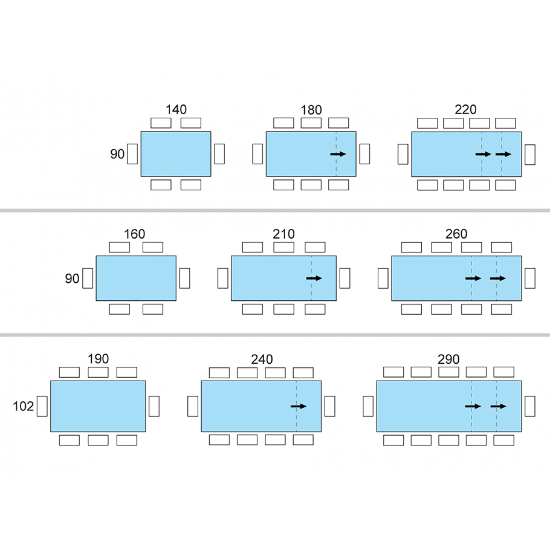 Dimensioni Standard Tavolo Cucina tavolo da pranzo allungabile new edro (con immagini