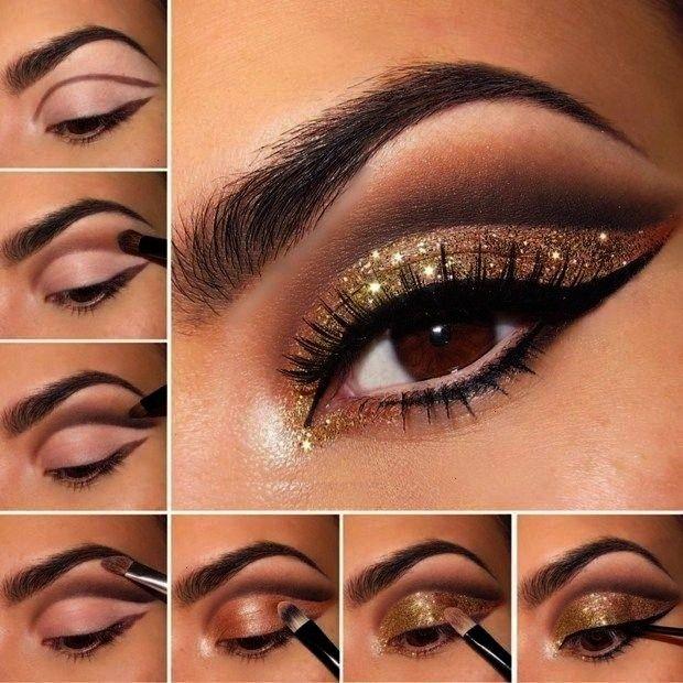 Bronze Eyeliner Black Brush Apply  - Make-Up -  Eye Shadow Bronze Eyeliner Black Brush Apply  - Mak