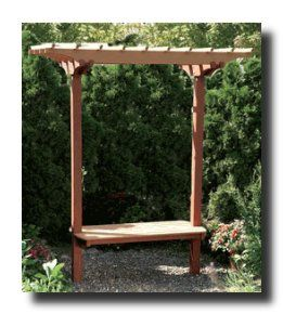 Beautiful Garden Benches With Trellis Images   Google Search