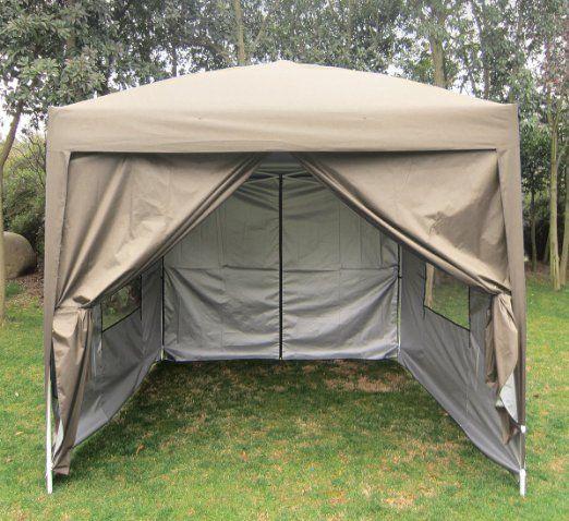 Peaktop 8u0027X8u0027 Beige EZ Pop Up Party Tent Canopy Gazebo Screen Curtain 100 & Peaktop 8u0027X8u0027 Beige EZ Pop Up Party Tent Canopy Gazebo Screen ...