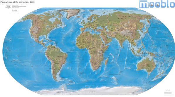 Mapa-Mundi Fisico
