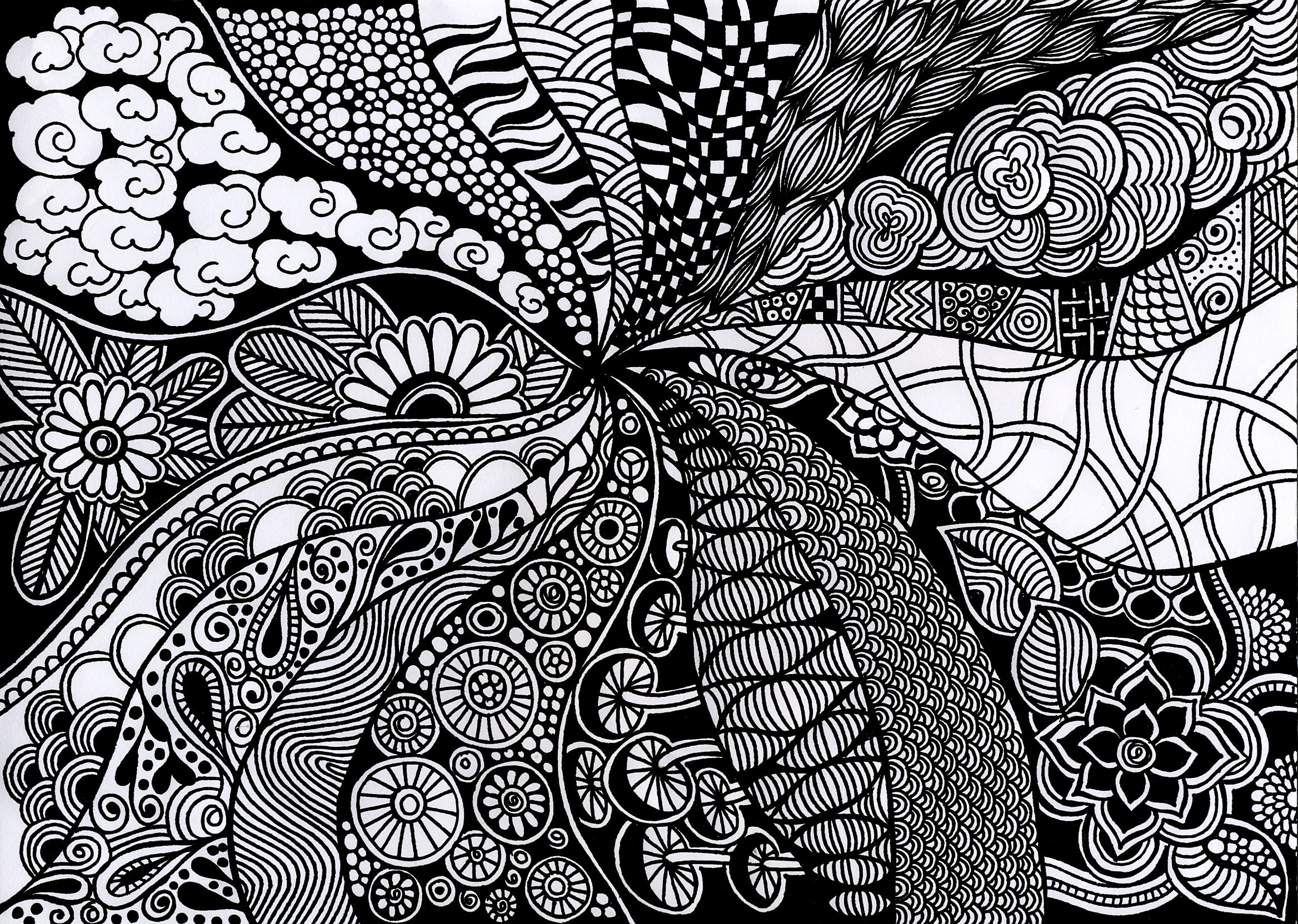 Black And White Art Ideas Black And White Tangles Doodle Art Pattern Art Art