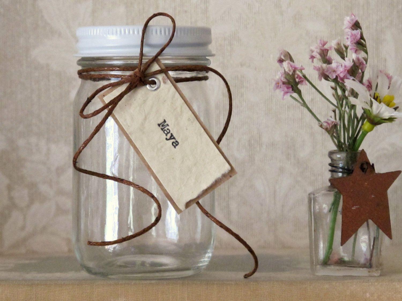 Country Wedding Shower Favors  Mini Mason Jars  Wedding Favors