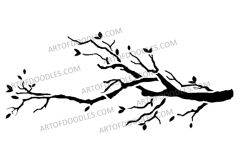 Tree Limb Vector Art Tree Clip Art Tree Stencil Etsy Tree Stencil Camo Stencil Vector Art