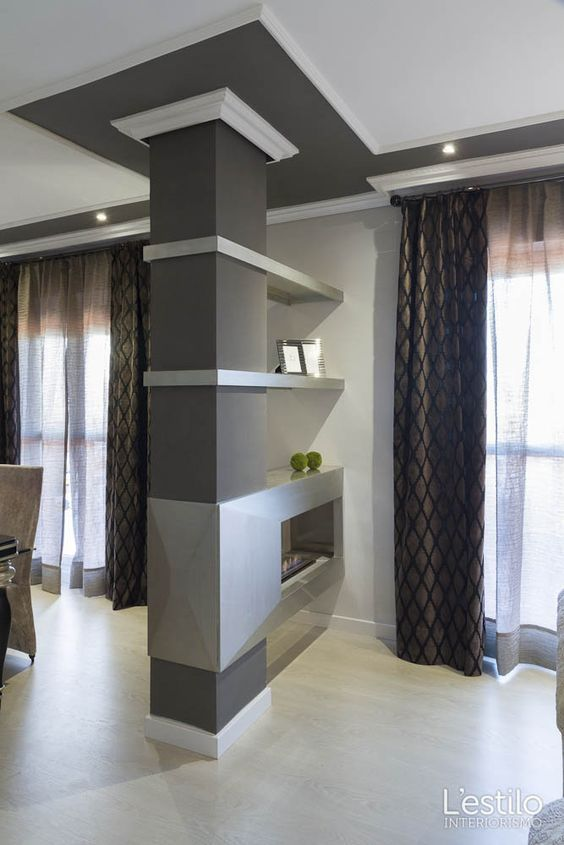 Come rendere un pilastro una soluzione d 39 arredo 14 idee che funzionano soggiorno arredamento - Soprammobili moderni per soggiorno ...