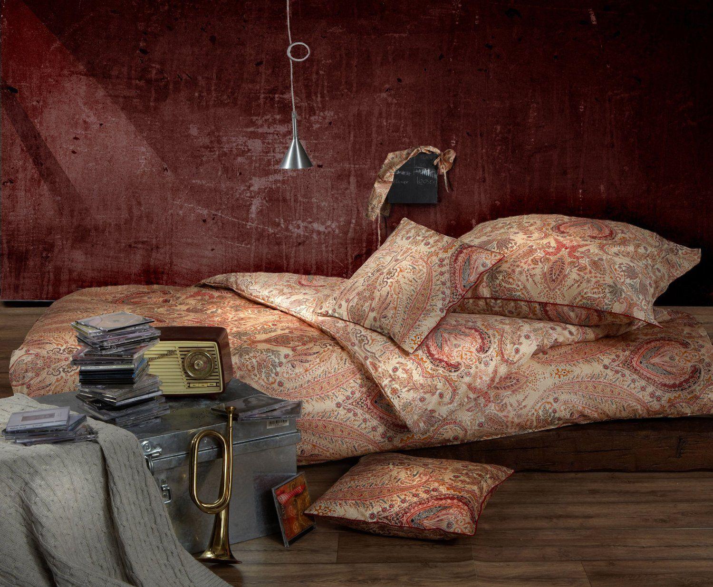 Bettwäsche Bettbezug Garnitur Paisley Reine Baumwolle Satin