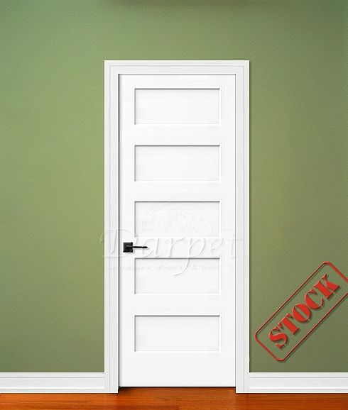 5 Panel Flat Shaker Style Primed 6 39 8 80 Darpet Interior Doors For Chicago Builders Http