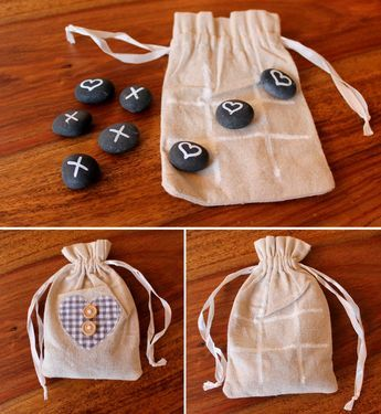 DIY Tic-Tac-Toe Spiel einfach und schnell selber machen #bastelnmitsteinen