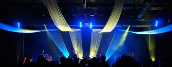 church lighting ideas. fly with me church stage design ideas two on each side draped from floor lighting