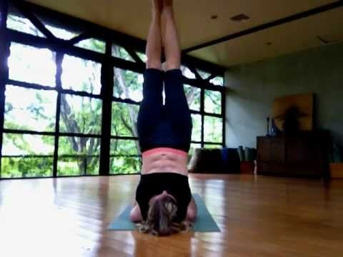 watch video of how to do lotus in shoulder stand yoga