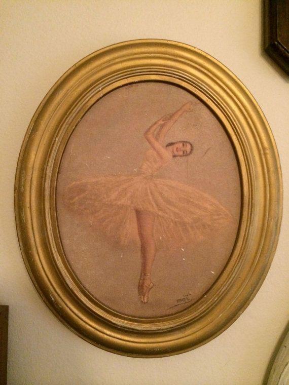 Vintage Ballerina Wall Hanging by LollipopThriftShop on Etsy, $14.00  Wishlist!!!