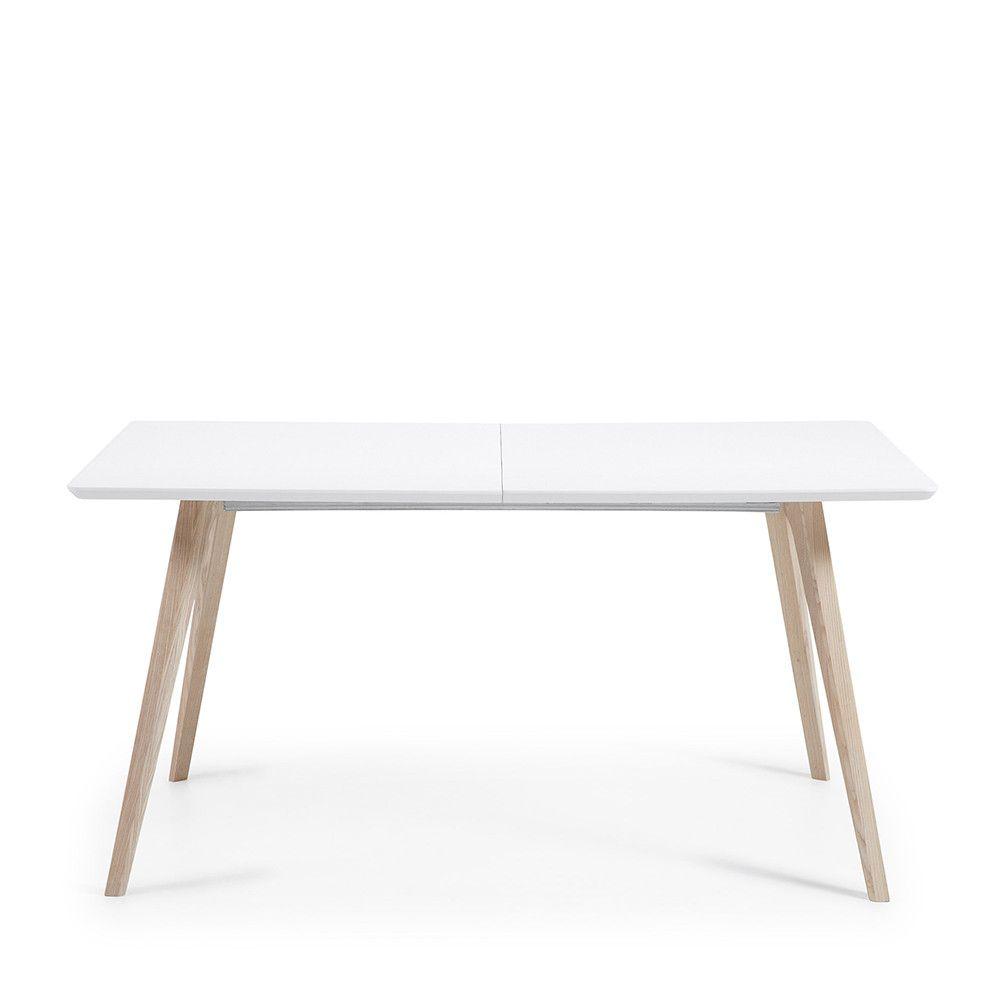 Design Joshua Bois Table Scandinave Blanc Extensible Laqué Mat O0Pknw