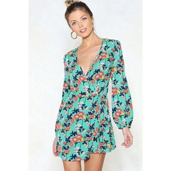 2ba1325a60 Untitled #199 | Verdes | Wrap dress floral, Dresses, Floral