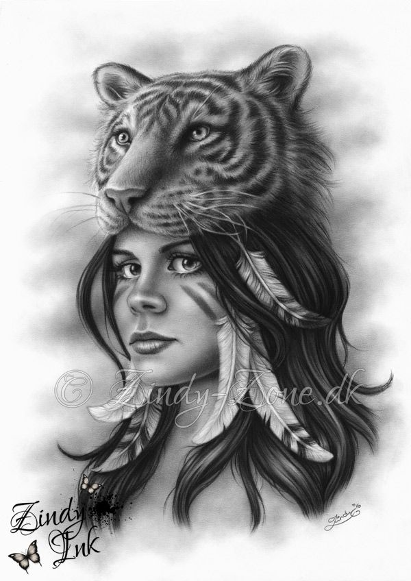 tiger_and_the_girl_zindyink.jpg (600×848)