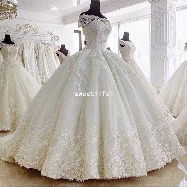 2019 Gorgeous Ball Gown Wedding Dresses Off The Shoulder