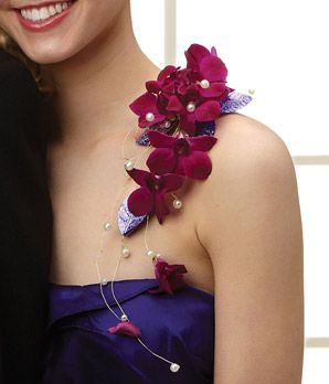 Over the Shoulder Prom Corsage