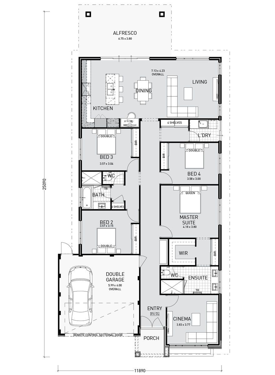 Home Plans And Designs For Your Dream Home Home Remodeling Single Storey House Plans Home Design Floor Plans Single Level House Plans