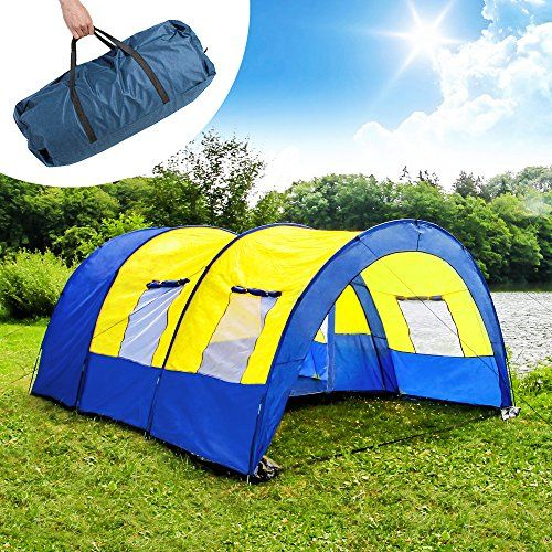 TecTake C&ing tent 3000 mm hydrostatic head tunnel with foyer 4 - 6 man persons waterproof & TecTake Camping tent 3000 mm hydrostatic head tunnel with... https ...