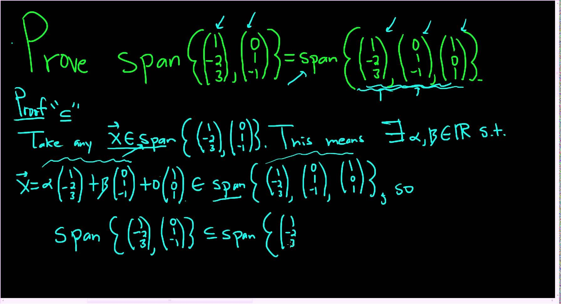 Proving Two Spans Of Vectors Are Equal Linear Algebra Proof Algebra Linear Math Videos Adding two vectors linear algebra