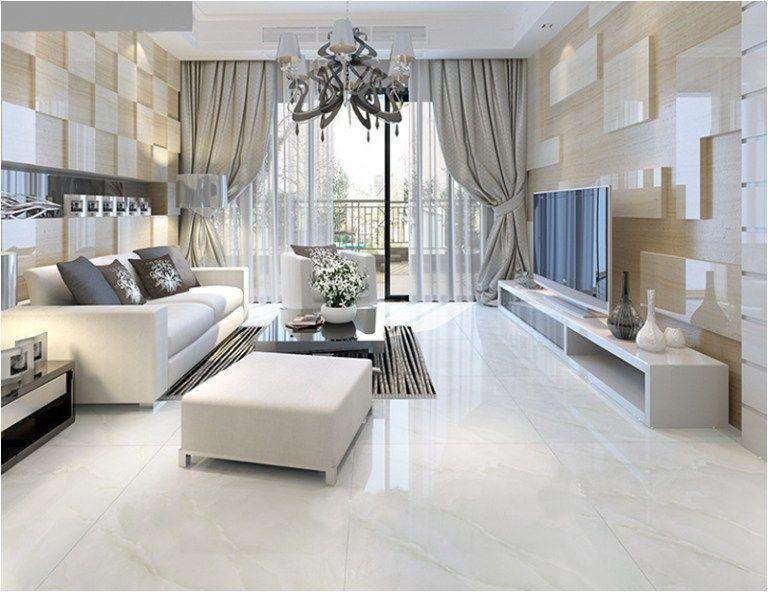 White Marble Home Decor – styleheap.com in 2020 | Marble living room floor,  Living room tiles, White floors living room