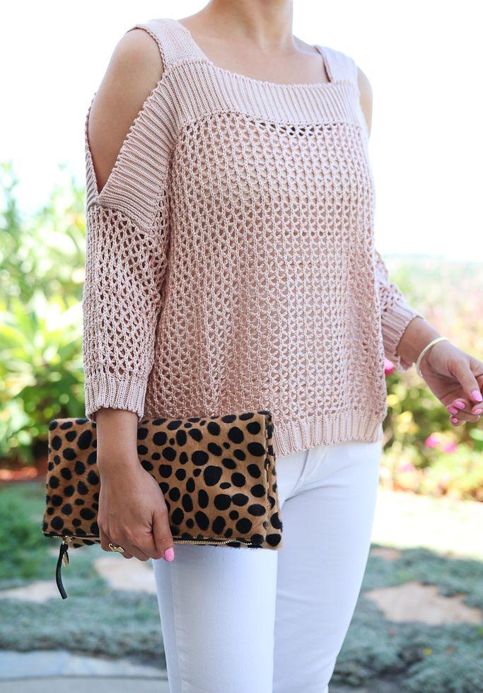 Strickpullover mit kalten Schultern, Pullover mit geschnürten Ärmeln, überbackenes Kleid   – Fashion and Style