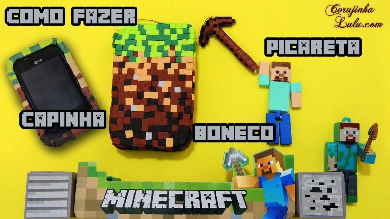 Tutorial Minecraft: Como hacer Funda /Carcasa + Colgante de Pico Touch  ...