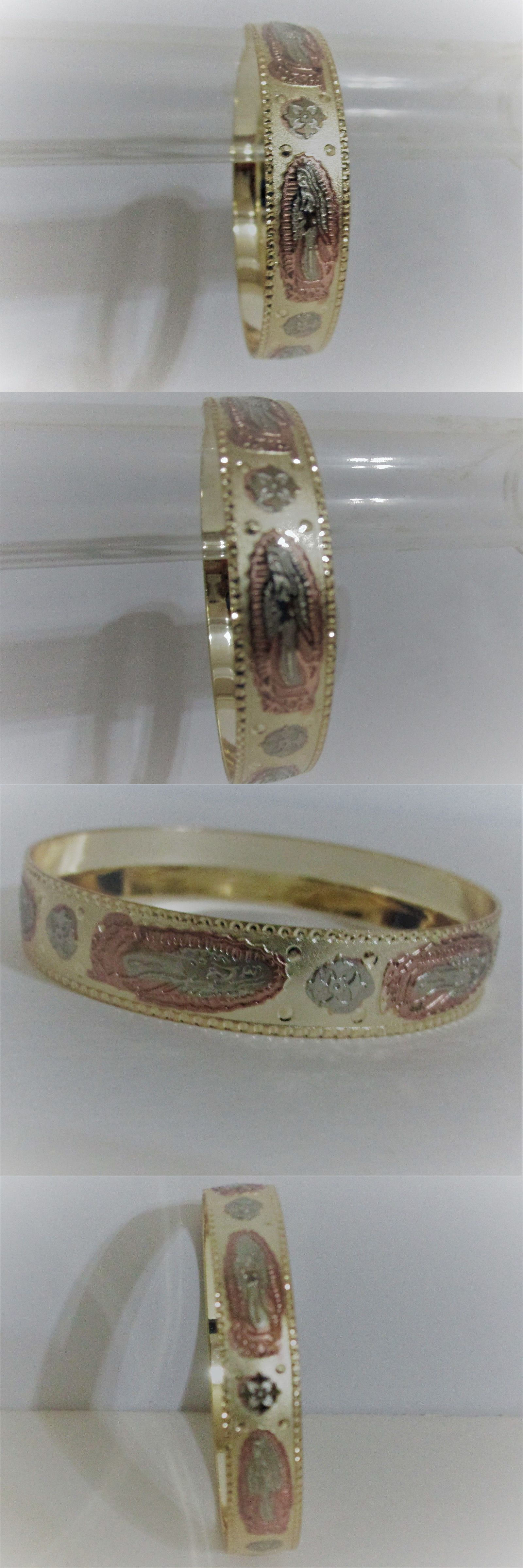 Mexican virgin mary guadalupe unique gold filled tone