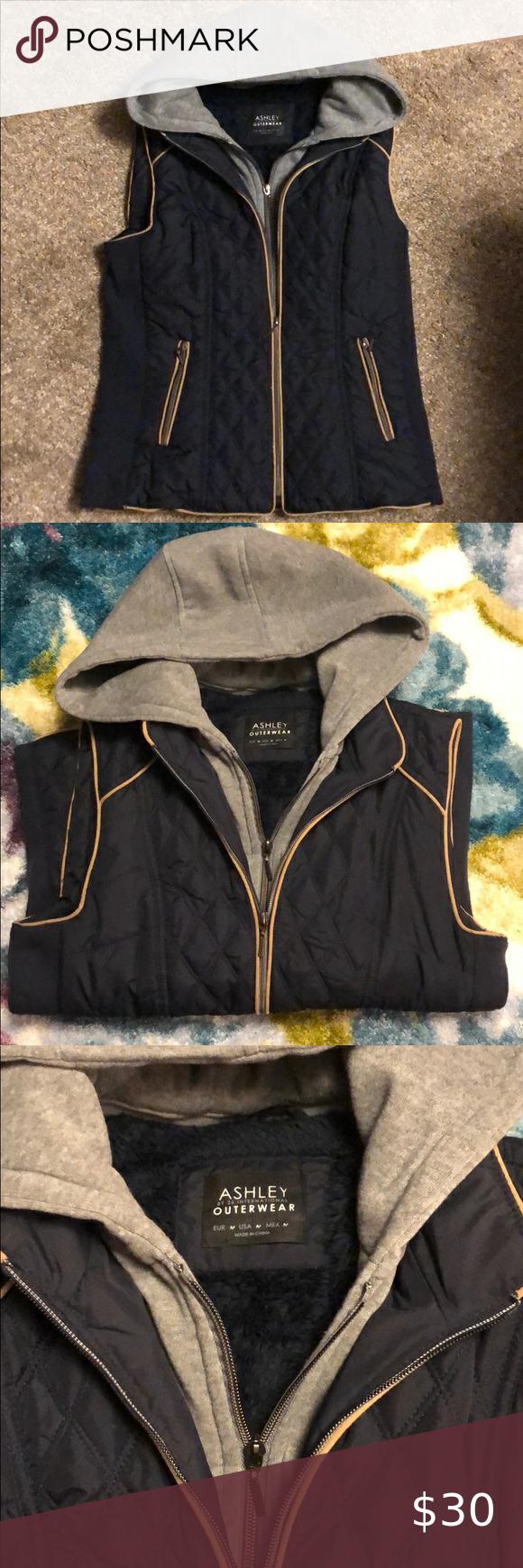 Ashley Outerwear By 26 International Vest Hooded Vest Outerwear Jackets For Women [ 1740 x 580 Pixel ]