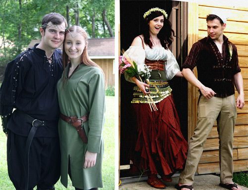 Sarah & Corey's budget Viking wedding with a pop culture twist | Offbeat Bride