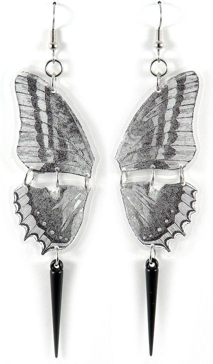 Black & White Butterfly Earrings <3 Love!