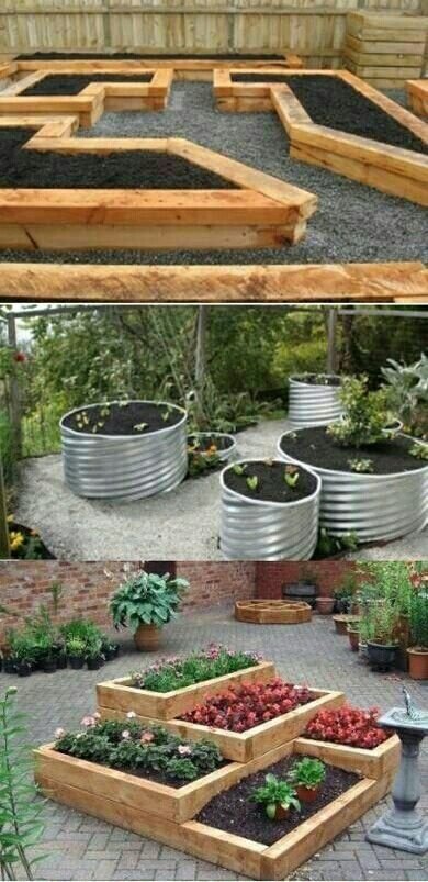 The wood one is the cheapest. But there all perfect for gardening.